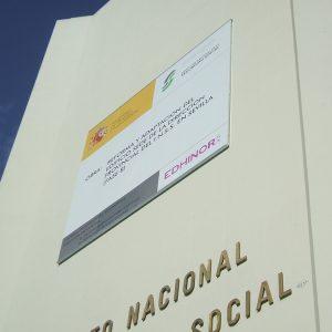 Valla publicitaria a pared INSS Sevilla