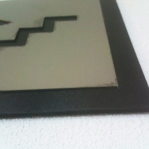 Acero Fresado pegado a Forex negro para IMDEA Tecnogetafe
