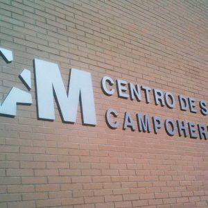 Letras Ciegas de Aluminio Lacado para CS Campohermoso