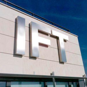 Letras Ciegas de Acero Mate para IFT-ICMAT