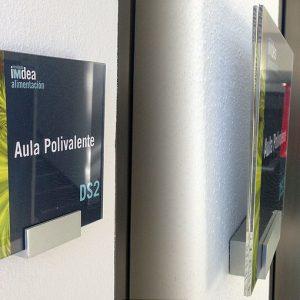 Aqua block con Metacrilato y Vinilo Impreso, IMDEA Alimentación