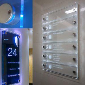 Metopas Lumos de Acero con LED, Metacrilato Fresado y Bandeja Lacada (Hotel)