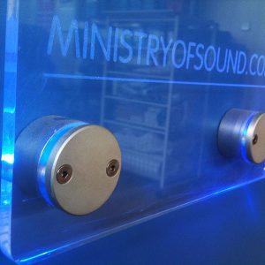 Metopas Lumos de Aluminio con LED, Metacrilato y Vinilo Esmerilado