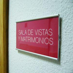 Señal de Interior Marino para Juzgados de León