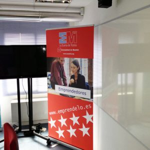 Roll up extensible para Madrid Emprende